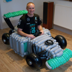 mercedes balloon car