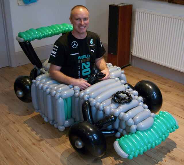 Mercedes Balloon Car
